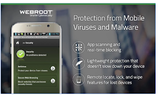 Proteksi Webroot SecureAnywhere Antivirus for android