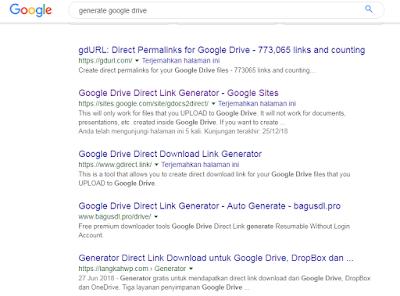 hasil pencarian generate goole drive