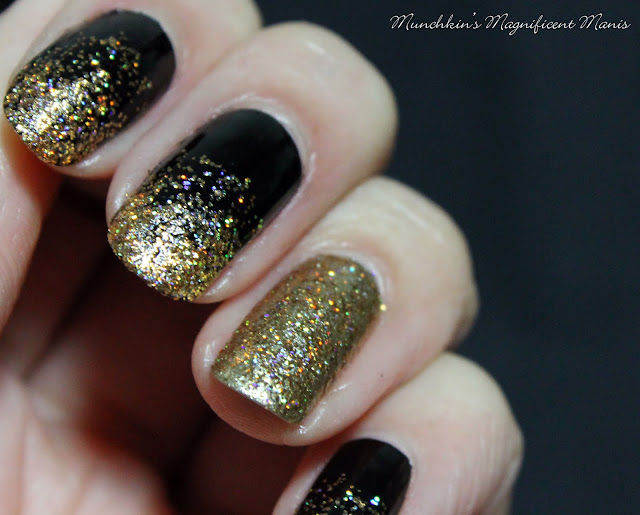 New Years Glitter Gradient Nail Design