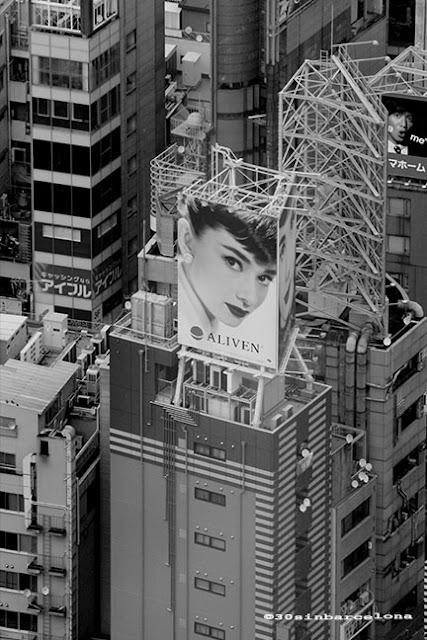 Audrey Hepburn ad in Tokyo