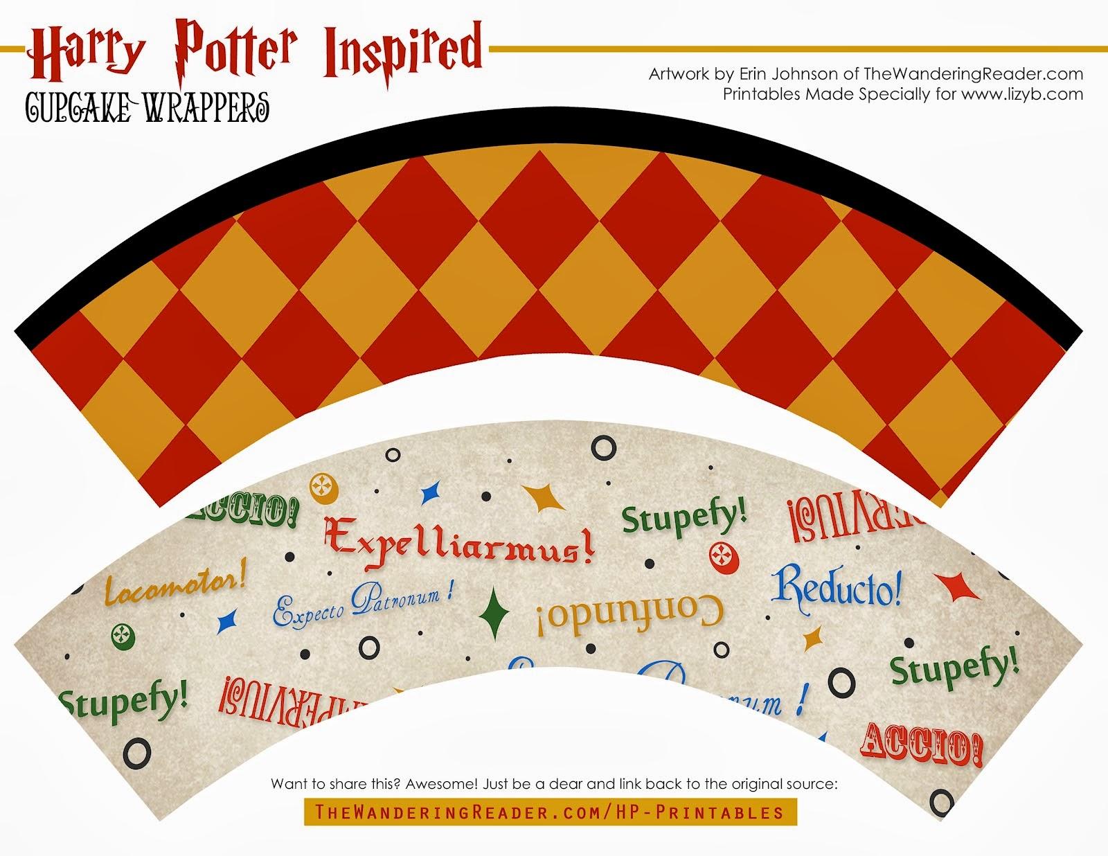Harry Potter And Halloween Free Printable Cupcake And