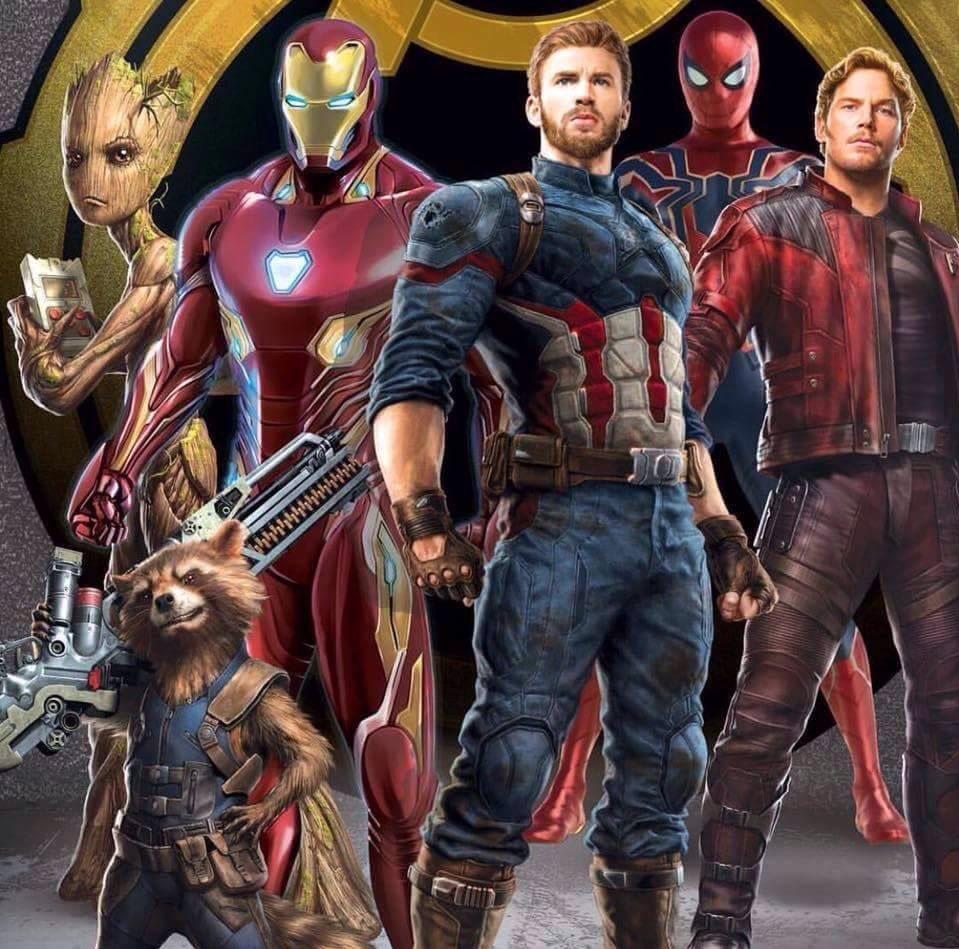 Avengers Infinity War Movie Promo Art