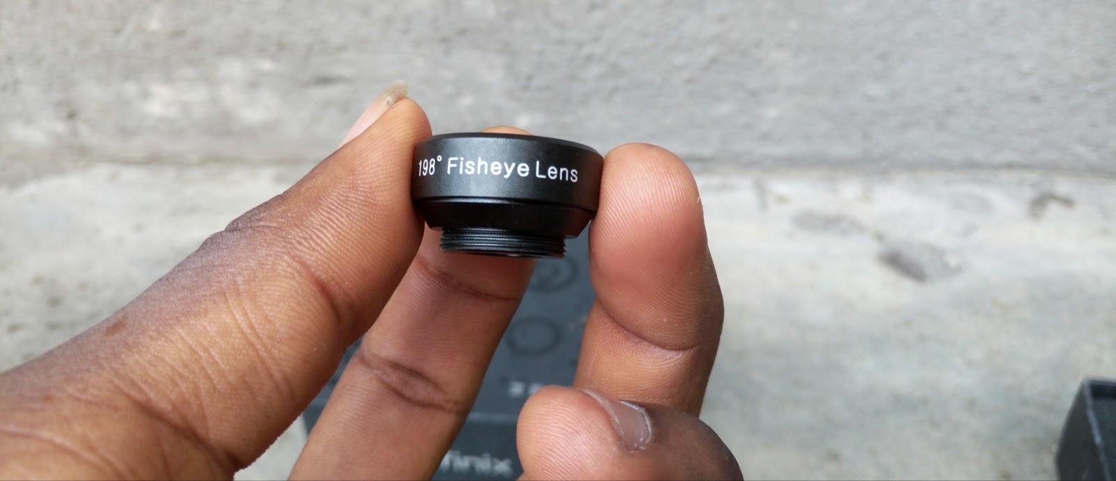 198° fish eye lens