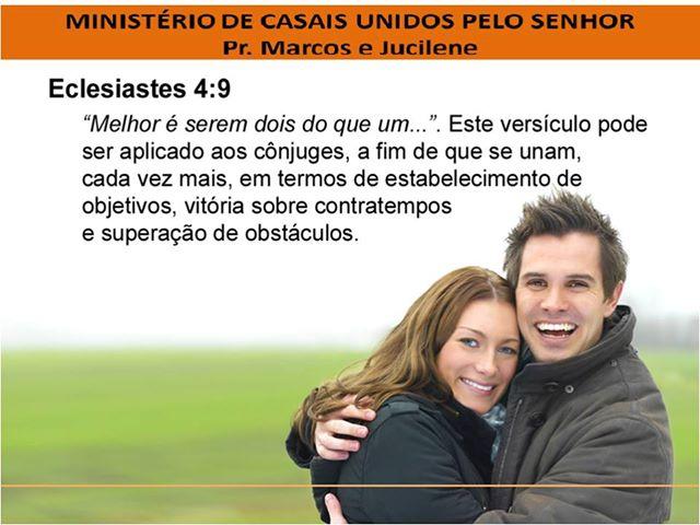 MINISTÉRIO DE CASAIS UNIDOS PELO SENHOR, UNINDO CASAIS E