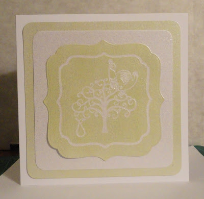 Partridge, pear and tree Christmas card