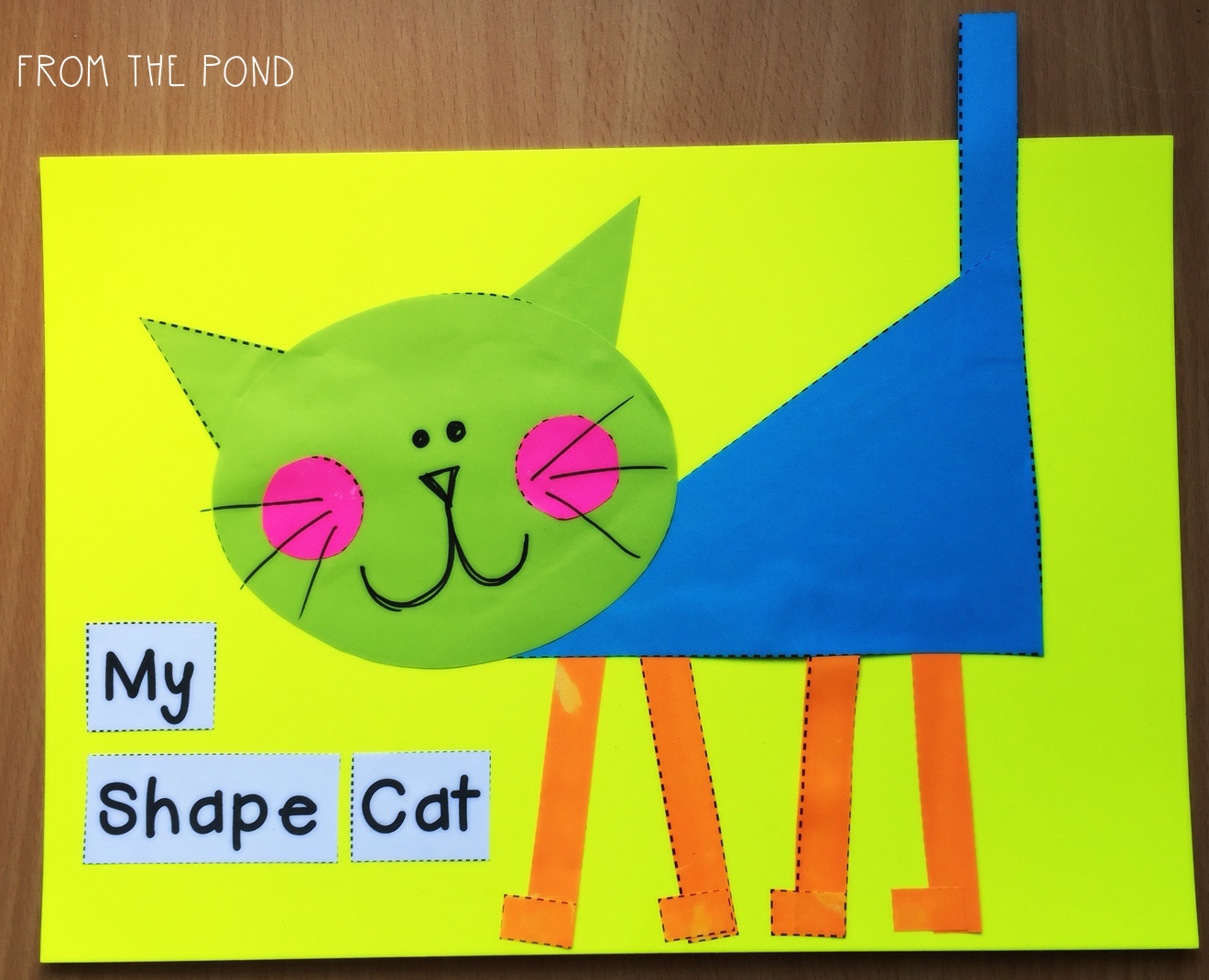 More 2D Shape Animal Crafts + A Fox Freebie! | From the Pond