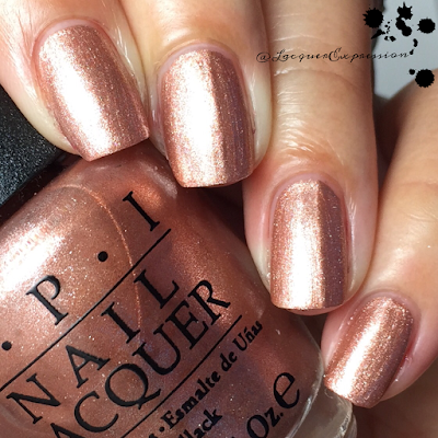 swatch and review of Worth a Pretty Penne from opi 2015 venice collection
