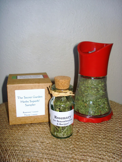 Packaging dried herbs