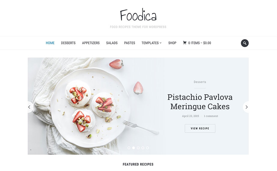 Foodica clean premium wordpress theme download forumfinder Choice Image