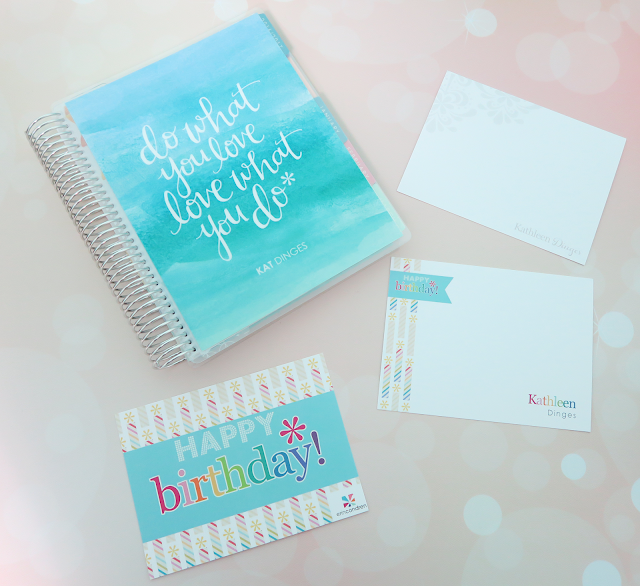 Erin Condren 2017 Personalized Note Cards | Kat Stays Polished