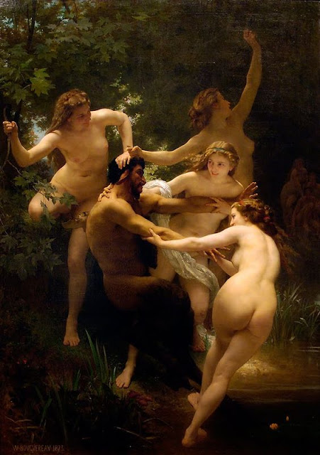 Nymphs and Satyr,  William-Adolphe Bouguereau, 1873