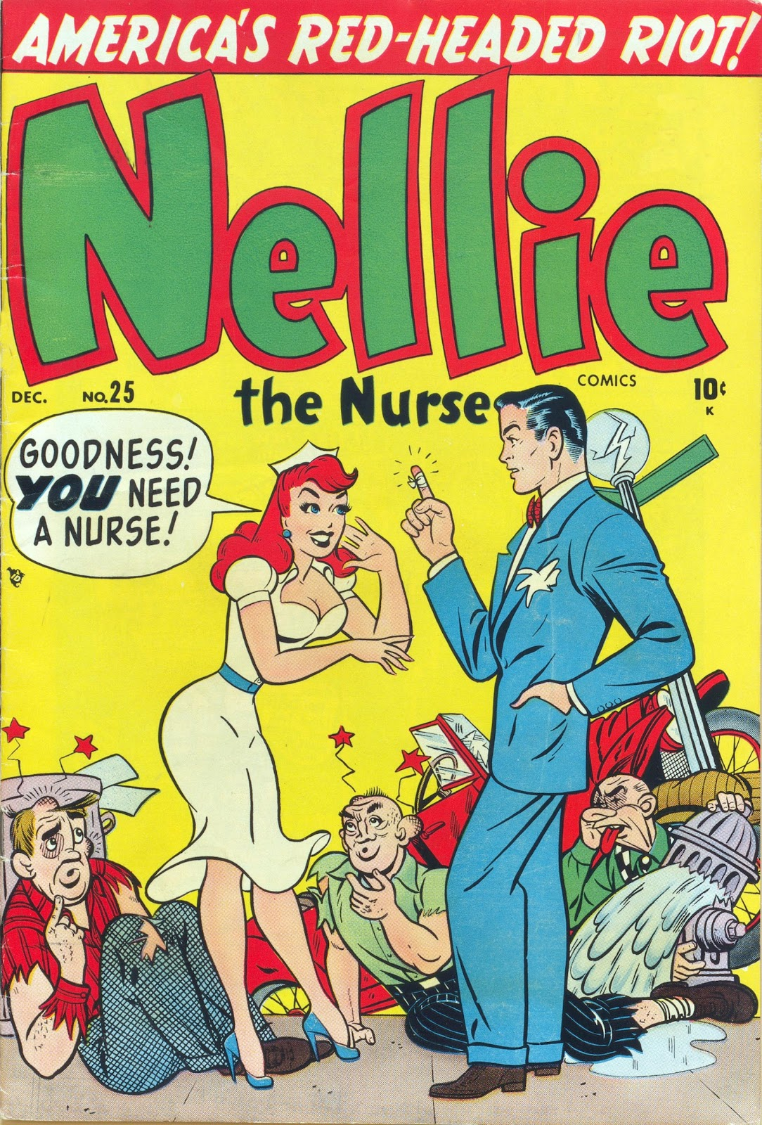 Read online Nellie The Nurse (1945) comic -  Issue #25 - 1