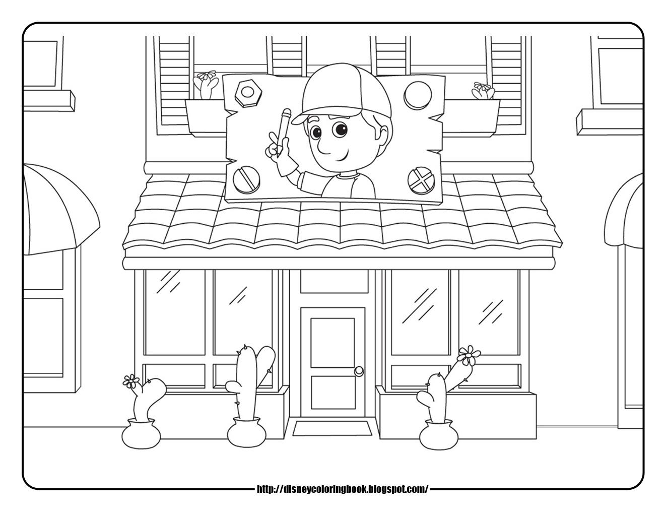 Handy Manny 2 Free Disney Coloring Sheets