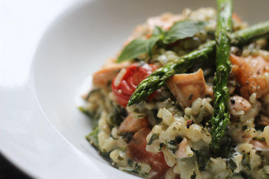 Salmon asparagus risotto recipe
