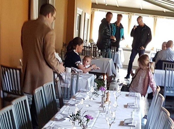 Crown Princess Victoria, Prince Daniel, Princess Estelle and Prince Oscar visited the Stallmästaregården Hotel and Restaurant in the Haga Park