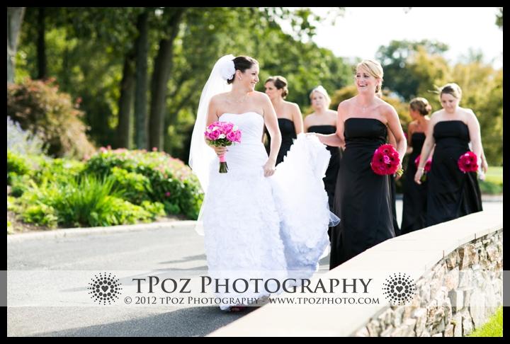 Hillendale Country Club Wedding Bridal Party Portrait