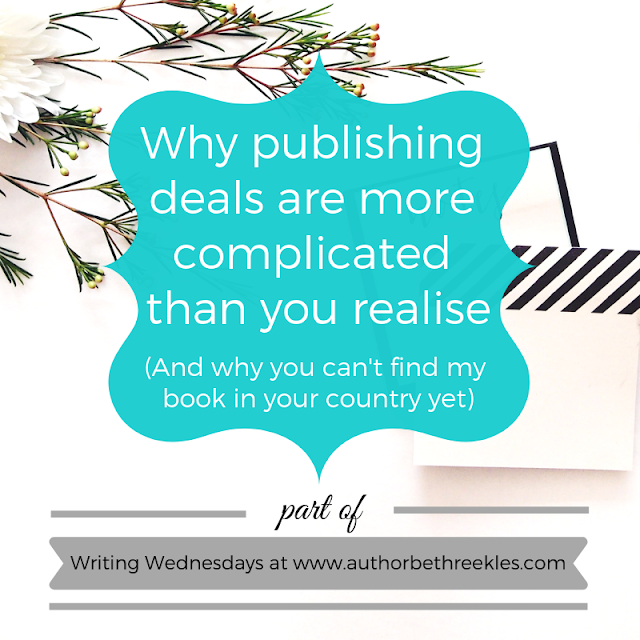 Wondering why you can't find a book you love available in your country yet, even if it's published somewhere else in the same language? Publishing rights can get complicated. I try to demystify them a little in this post.