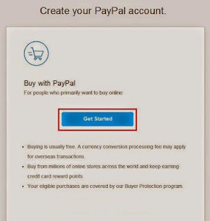 Cara daftar paypal pilih buy with paypal