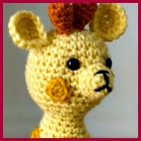 Jirafita a crochet