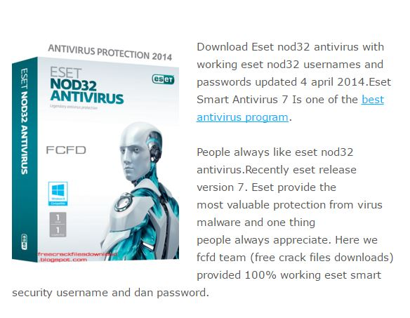 Eset not32 antivirus download.