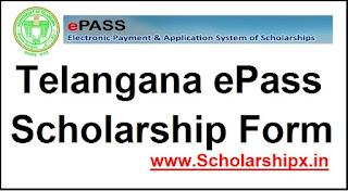Telangana ePass Scholarship 2017-18