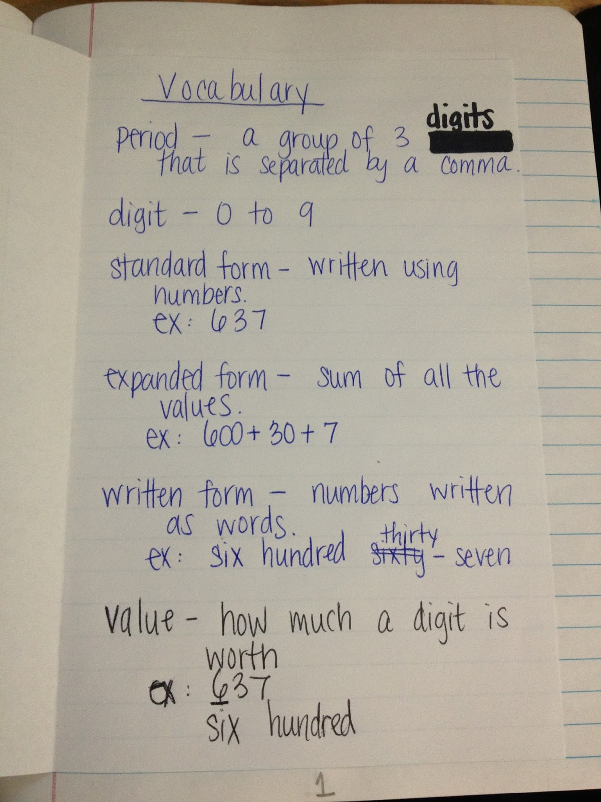 Short Word Form Math Worksheets
