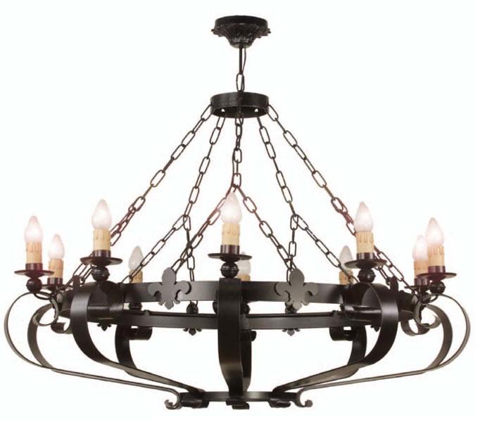 Muebles de forja lampara de forja grandes para salones y bodegas - Lamparas para bodegas ...
