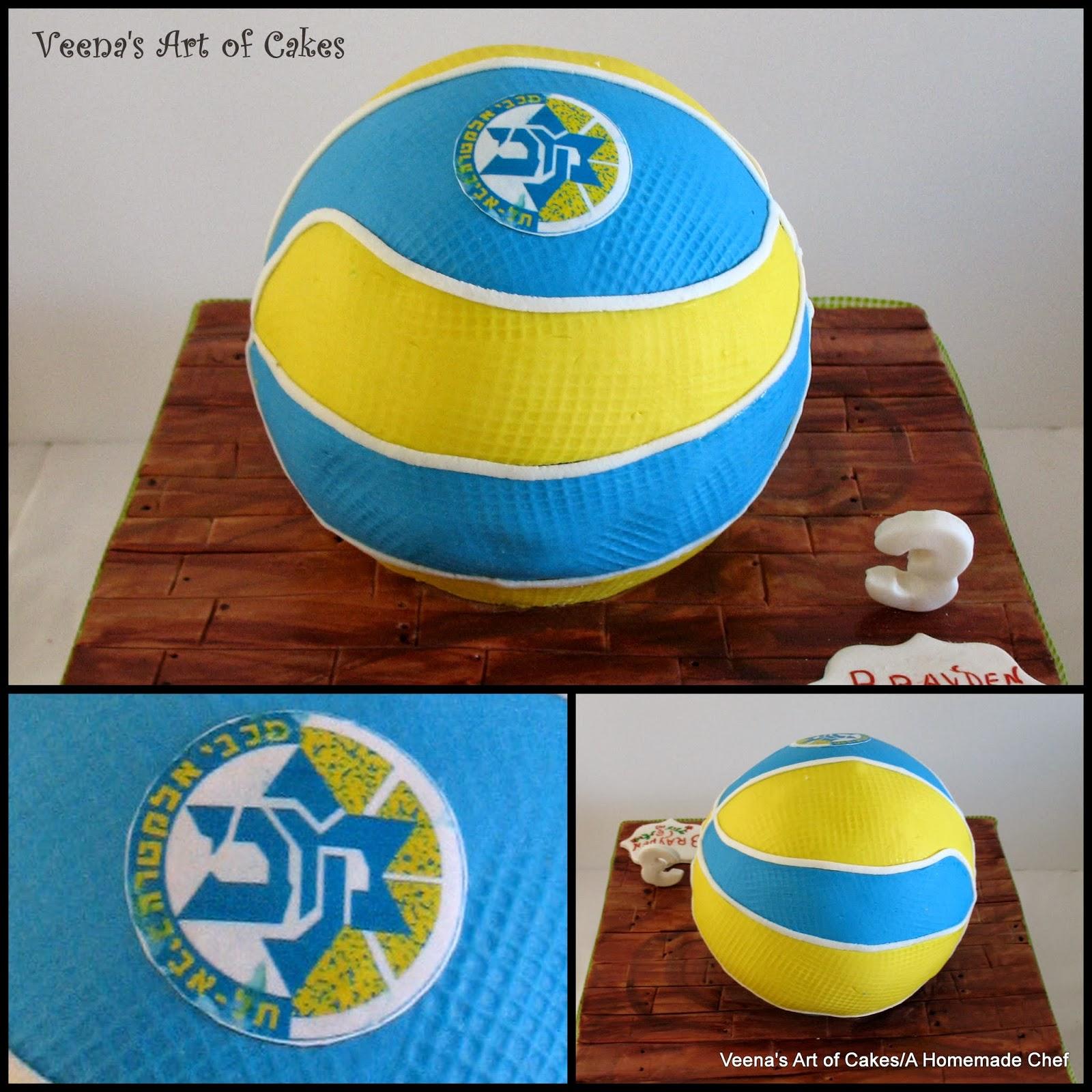 Basketball Cake Veena Azmanov