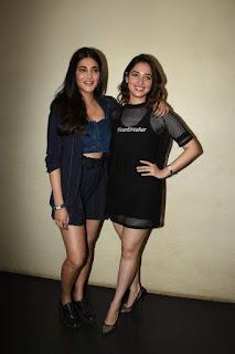 Tamannah And Shruti Haasan at F2 Telugu Movie Special Screening in Cinepolis Andheri Mumbai