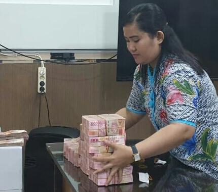 Kejati Lampung Terima Cicilan Uang Pengganti Dari Terpidana Sugiarto