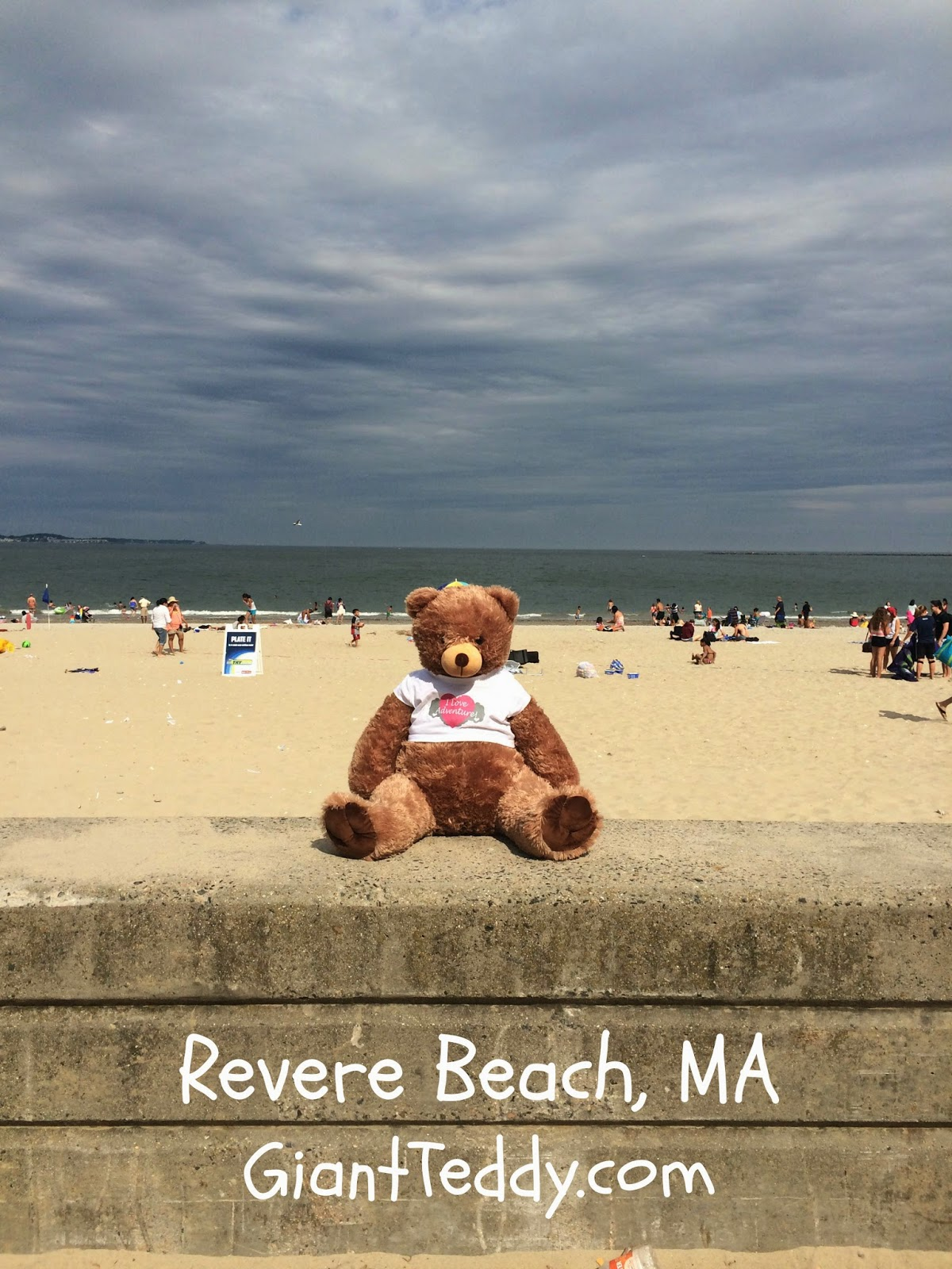 I'm at the famous Sand Sculpting contest in Revere Beach