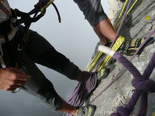 Escalando en Cabo Ogoño
