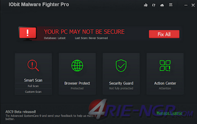 IObit Malware Fighter Pro 4.5.0.3457 Full Terbaru