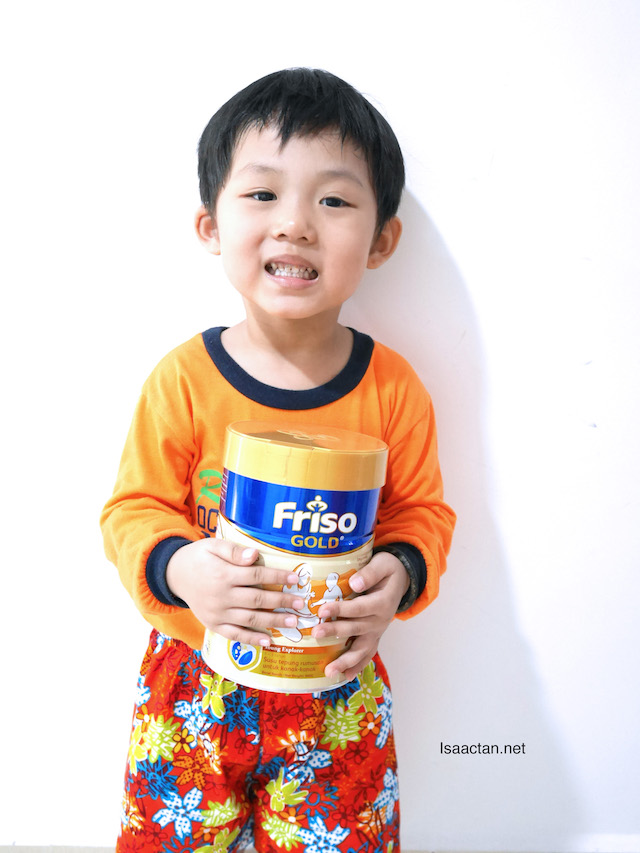 Baby Martin with his FRISO GOLD