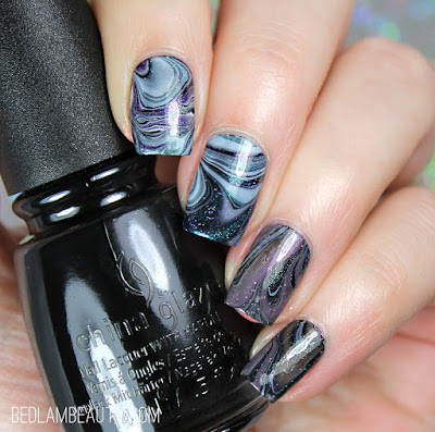 Top Shelf Bright Shimmers | Messy Watermarble Nail Art
