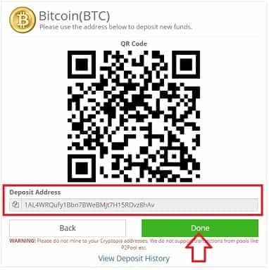 cómo enviar bitcoin o ethereum a cryptopia para comprar pesetacoin