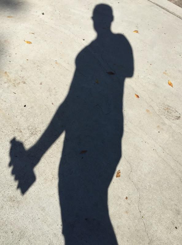 Shadow on sidewalk