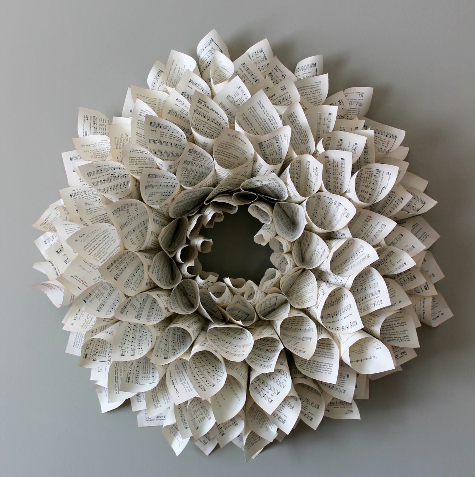 dahlia book page wreath