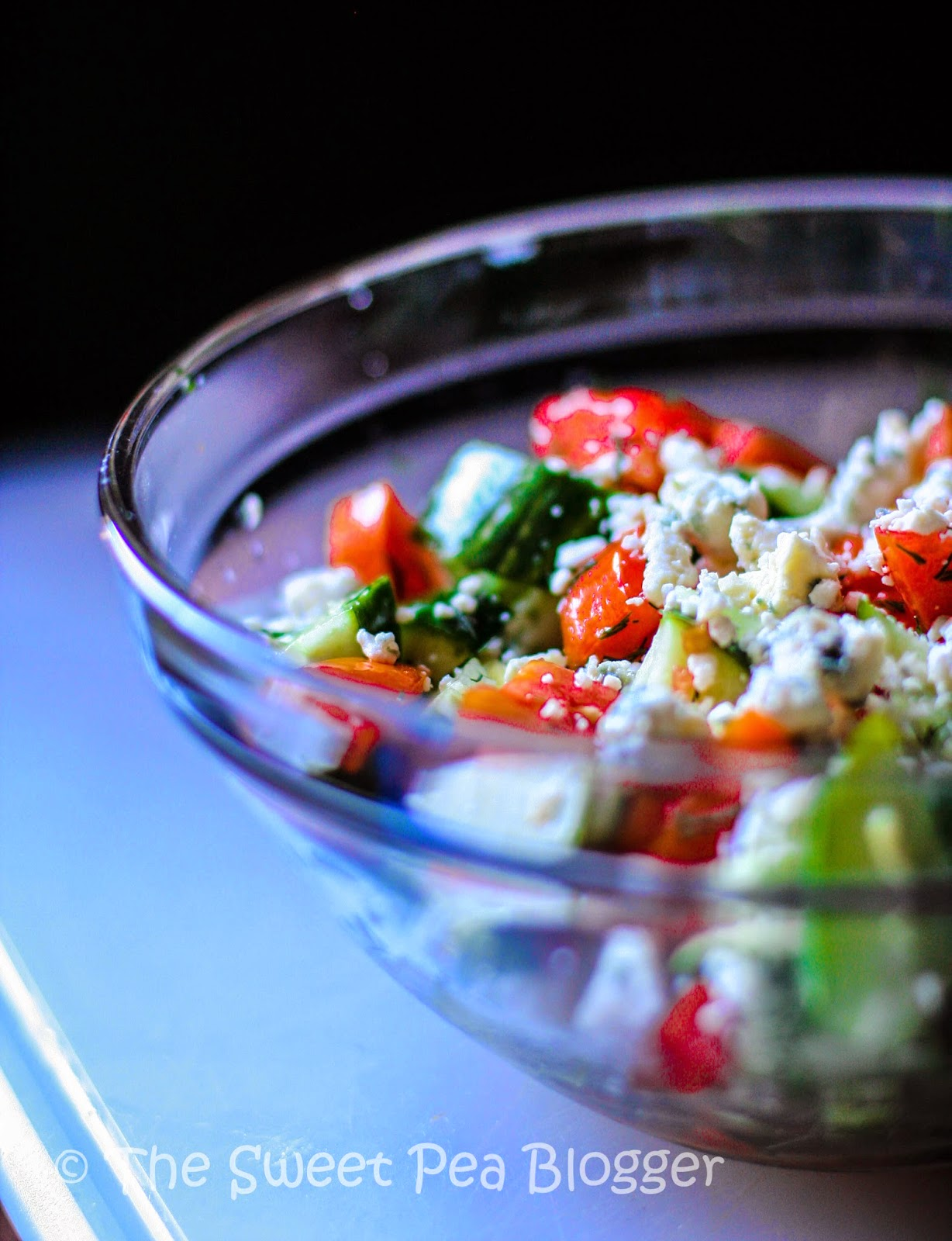Cucumber Tomato Blue Cheese Salad