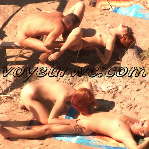 BeachHunters Sex 20526-20574 (Hot Nudist Couples spy cam at the beach)
