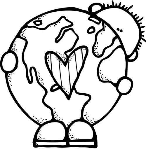 Free Earth Day Clip Art Black And White