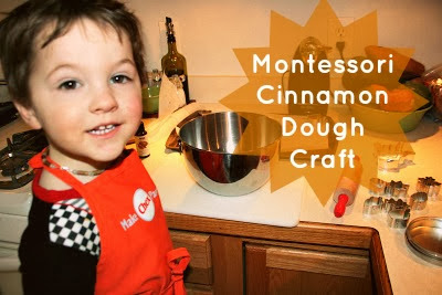 Cinnamon Dough Montessori Toddler Preschool Craft