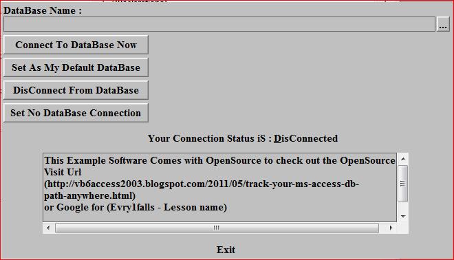 Visual Basic 6: VB 6 0 Track Your MS Access DB Path anywhere