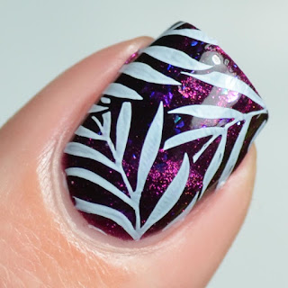 cat eye plum magnetic nail polish