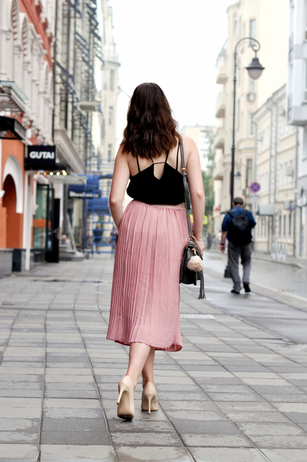 Pink Blush Pleated Skirt