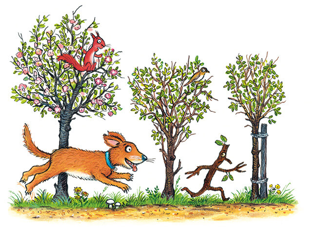 Illustrations from the Stick Man book