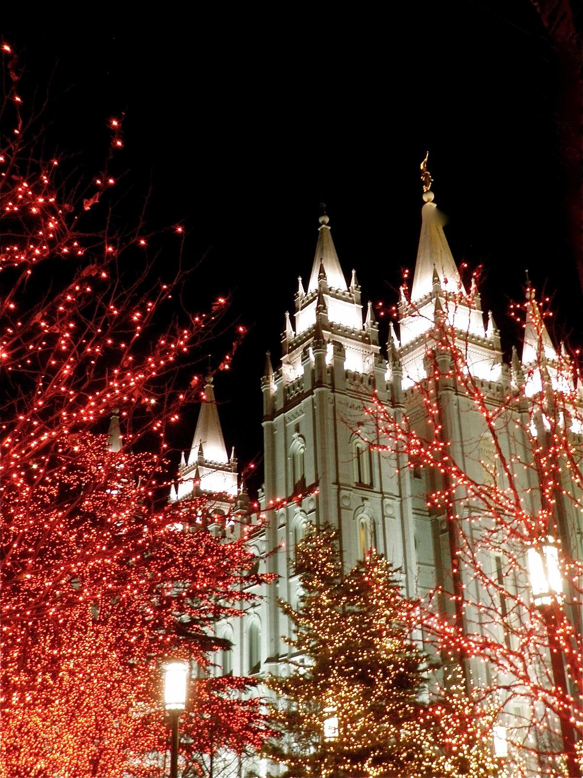 Salt Lake Temple Christmas Lights