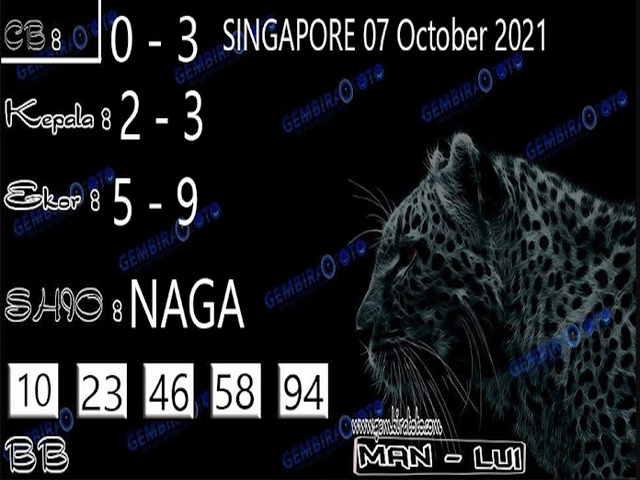 Syair sgp 07 Oktober 2021