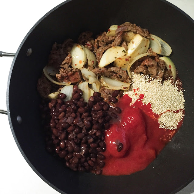 GoodFoodWeek's beef and quinoa burrito bowl
