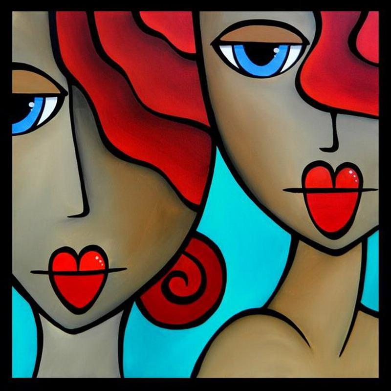 imgenes de cuadros abstractos de rostros femeninos modernos